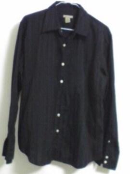 CARBON 薄手黒ストライプシャツ