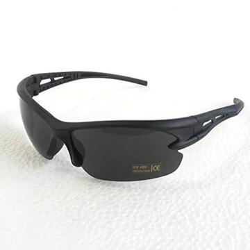 490円SALE★人気スポーツサングラス UV400 黒