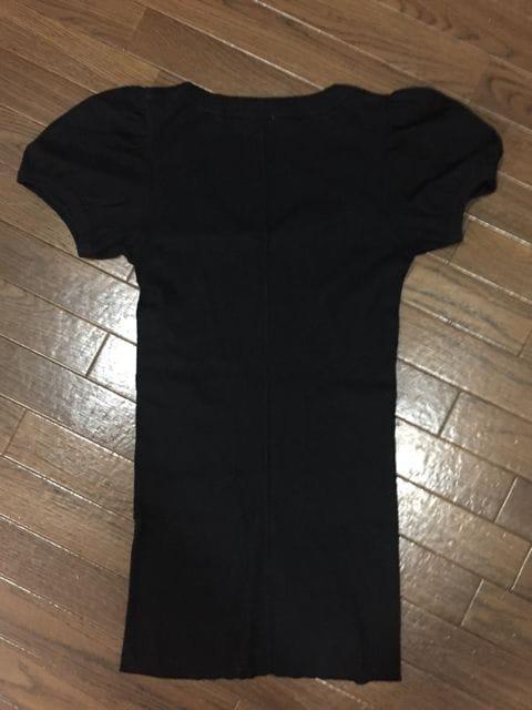 FLORENTフローレント パフスリーブ半袖Tシャツ 長め丈 黒 < ブランドの