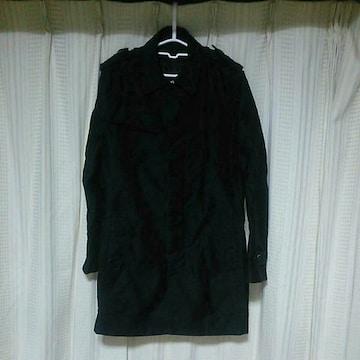 SCHLUSSELステンカラーコートトレンチコートサイズ3黒シュリセル日本製ドメスティックお兄系服