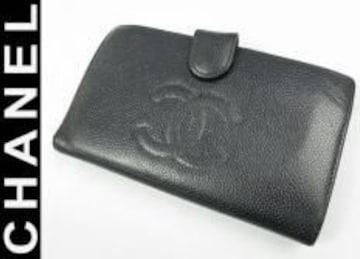 正規本物シャネル■キャビアCOCO■がま口財布