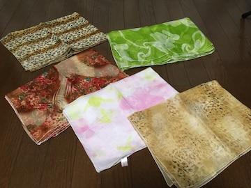 新品未使用スカーフ柄物ストール5枚まとめ売りセットヒョウ柄