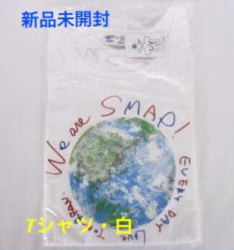 新品未開封☆SMAP We are Smap★BEAMS コラボ Tシャツ 白