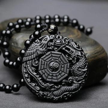 陰と陽 陰陽 ネックレス アクセサリー 数珠 玉