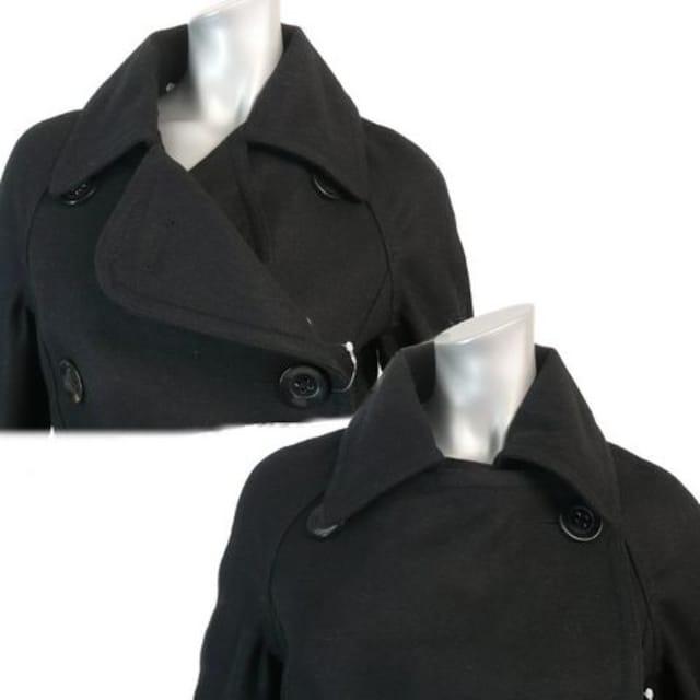 黒のミドル丈コート★ウール混【新品★9号】849 < 女性ファッションの