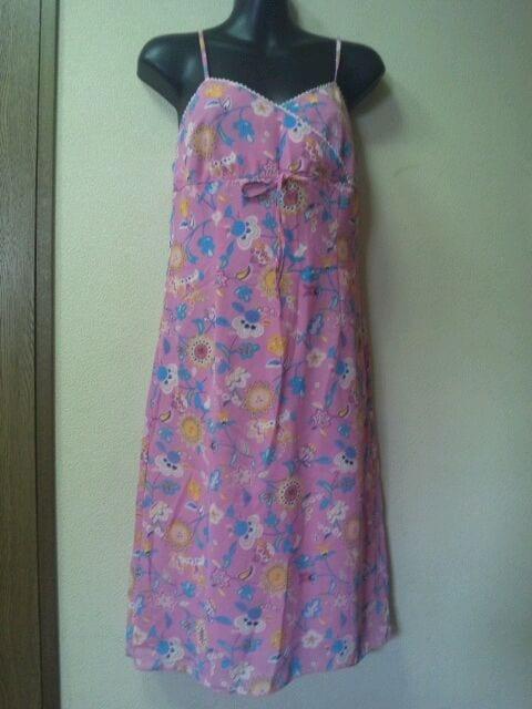 シフォン★花柄★キャミワンピ/M/ピンク系  < 女性ファッションの