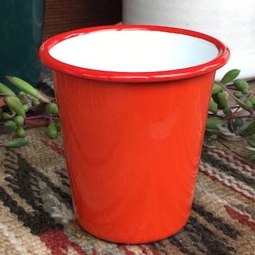 ファルコンFALCON英国伝統ホーロータンブラー☆レッド琺瑯食器