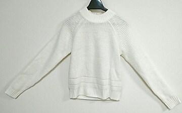 BLISS POINT ホワイトデザインセーター 美品 Mサイズ