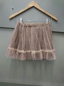 Ank Rouge☆チュール重ねヒョウ柄スカート