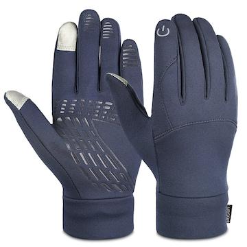 グローブ スマホ対応 暖かい手袋 グレー