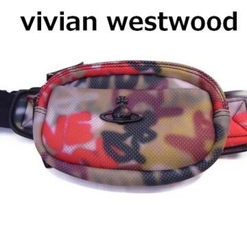 送料込 vivian westwood man ヴィヴィアン ウエストポーチ 美品★dot
