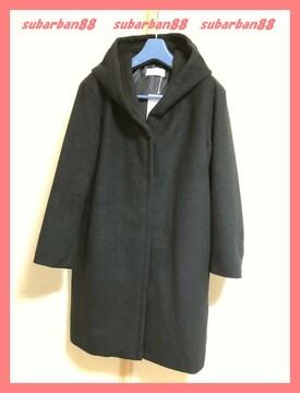 AZULアズール☆新品7689円ウール調フードロングコート希少L<