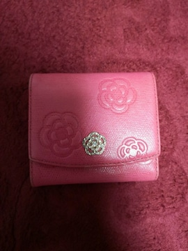 レア CLATHAS  クレイサス 折り畳み 財布 ピンク