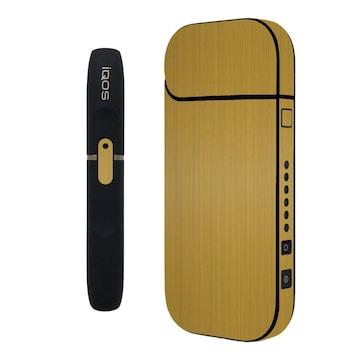 31色 iQOSステッカー ケース 全面 ゴールドブラッシュメタル