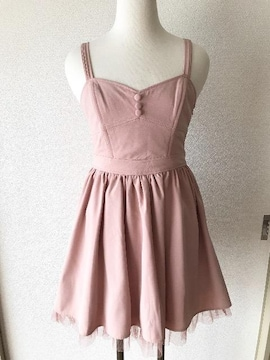 [dazzlin]★ピンクカラー・ノースリーブワンピース・サイズ[S]★