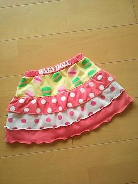 中古スカート☆ピンク110ベビードールBABYDOLLベビド