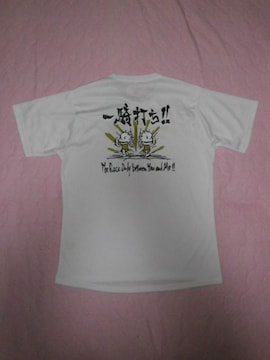 未使用新品タグ付き★asics★速乾ドライ系Tシャツ/バックプリ