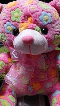 花柄ベア・ぬいぐるみ・ピンク