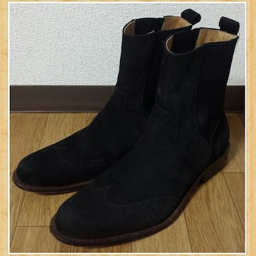 JUNMEN ジュンメン ウイングチップ ショートブーツ L 美品 レザー 本革