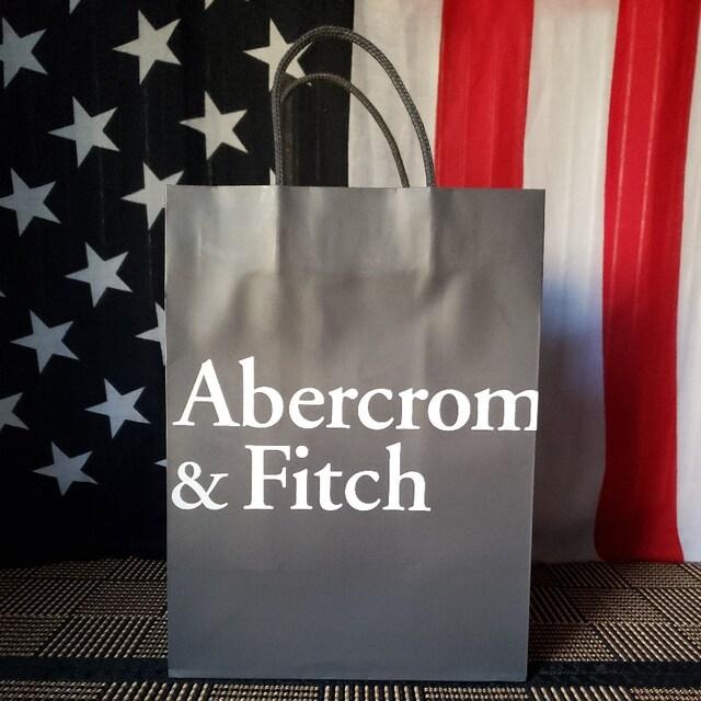 【アバクロ★ショップ袋】Abercrombie&Fitch♪シンプル♪グレー  < ブランドの