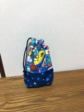 プラレール×星・コップ袋・ハンドメイド