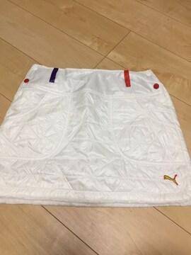 プーマゴルフ防風スカートホワイト