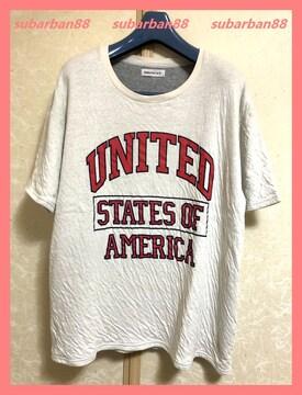 ☆WEGO☆美品☆ゆるカワ♪シワ加工アメリカビッグロゴTシャツ☆