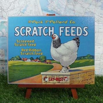 新品【ブリキ看板】Scratch Feeds/粒餌 Park & Pollard Co.