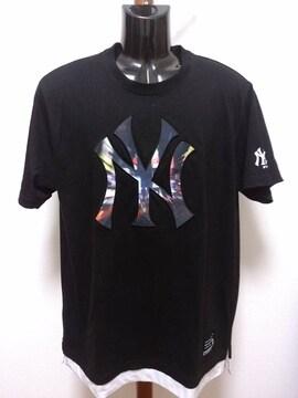 即決 送料込み ニューヨーク・ヤンキース 半袖Tシャツ 立体ロゴ