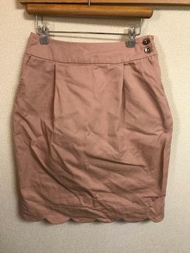 ★Par Avion ピンクベージュ×スカラップスカート  ONE★A