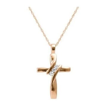 売り切れ御免!ネックレスの王道 クロス czダイヤモンド
