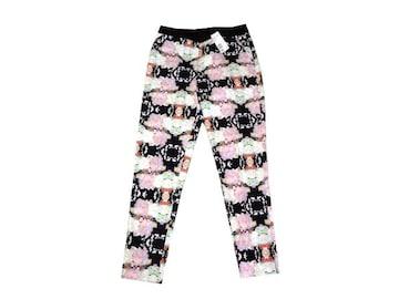 新品 定価5490円 H&M 花柄 パンツ 36 Sサイズ 総柄 カジュアル