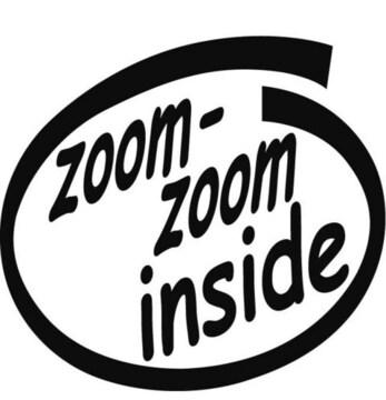 insideステッカー Zoom-Zoom
