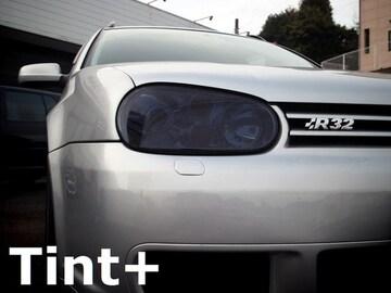Tint+何度も貼れる ゴルフ4 R32 ヘッドライト スモークフィルム