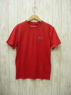 即決☆ジャックウルフスキン 速乾吸汗Tシャツ RED/M スポーツ デイリー