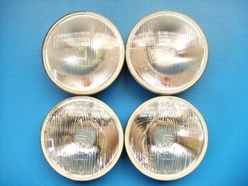 当時物 ほぼ新品 マーシャル 丸目4灯 ヘッドライト ヘッドランプ