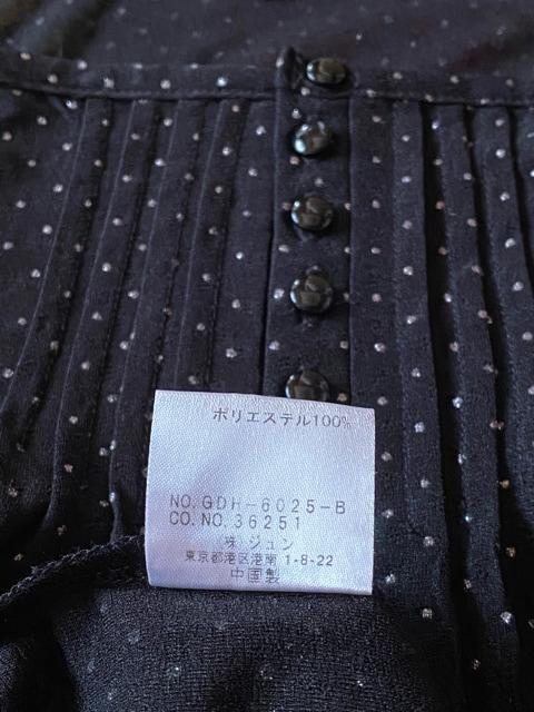 ロペピクニック☆ブラック×ゴールドドット7部トップス☆ < ブランドの