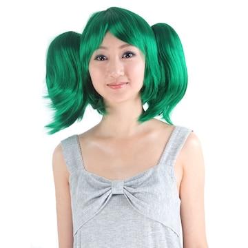 コスプレウィッグ グリーン緑髪マクロスランカ風7022