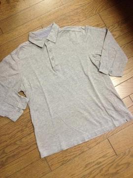 美品BEAUTY&YOUTH 5分丈ポロシャツ くるみボタン アローズ