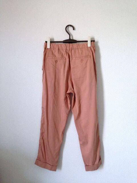 K garcon◆テンセル素材76% サーモンピンク ゆったり パンツ < 女性ファッションの