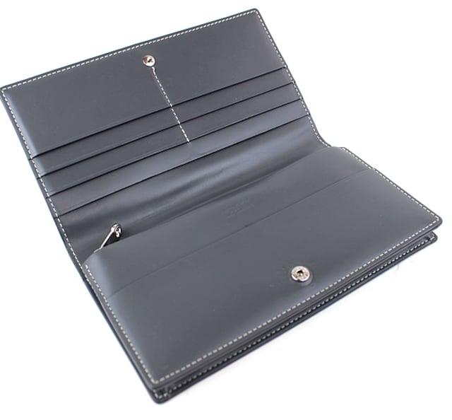 ゴヤール 長財布 二つ折り長財布 美品 グレー k412 < ブランドの