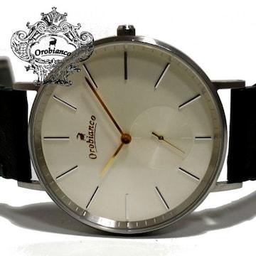 良品 オロビアンコ/Orobianco【本革】スモールセコンド 腕時計