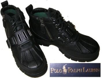POLO Ralph/ポロ ラルフローレン ブーツ ビーンブーツ黒us8.5