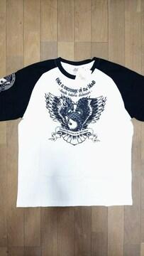 セール 新品[ ブラッドメッセージ ] EAGLEイーグル柄 半袖Tシャツ スカジャン好きも