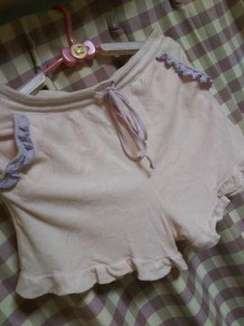★ショート パンツ フリル 可愛い サイズL ピンク ヒップ100�p●