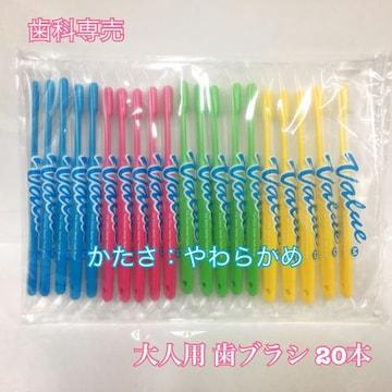 【送料無料】 歯科専売 大人用バリュー歯ブラシ 20本 やわらかめ