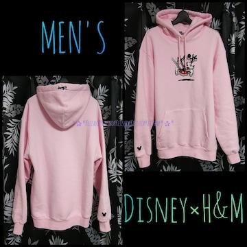H&M Disneyミッキーコラボ パーカー スウェット ピンク