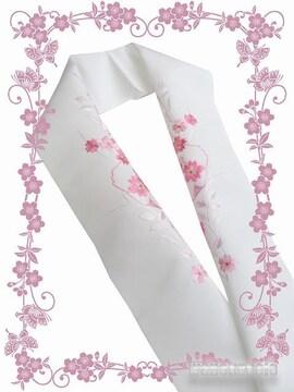 【和の志】洗える着物に◇刺繍半衿◇白系・桜柄◇PSH-62