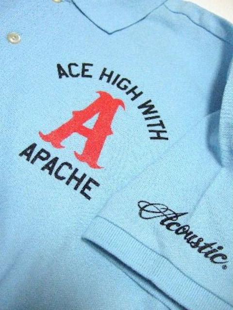 ★Acoustic★アコースティック★バックプリント★ポロシャツ★新品★ < 男性ファッションの